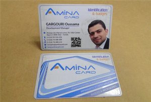 Business card card potisk vzorku z desktopové UV tiskárny -A2 velikost WER-D4880UV