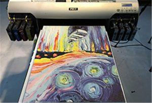 Vzorek plátna z A2 UV tiskárny WER-EH4880UV